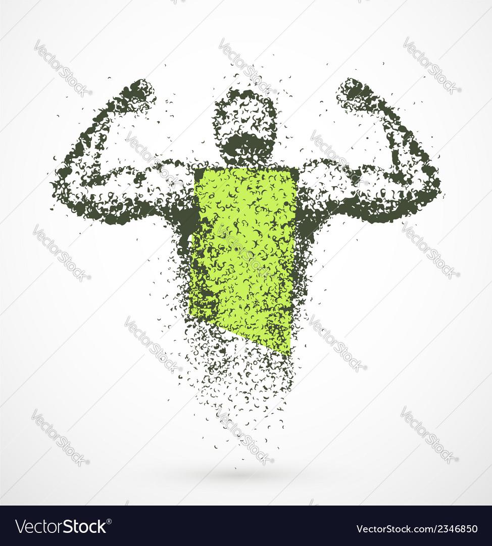 Muscular man vector | Price: 1 Credit (USD $1)