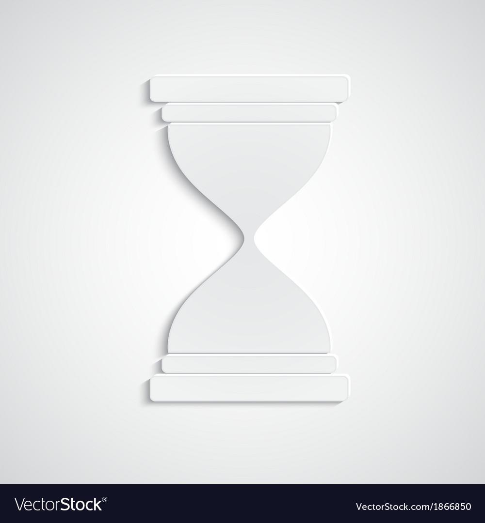Paper hourglass vector | Price: 1 Credit (USD $1)