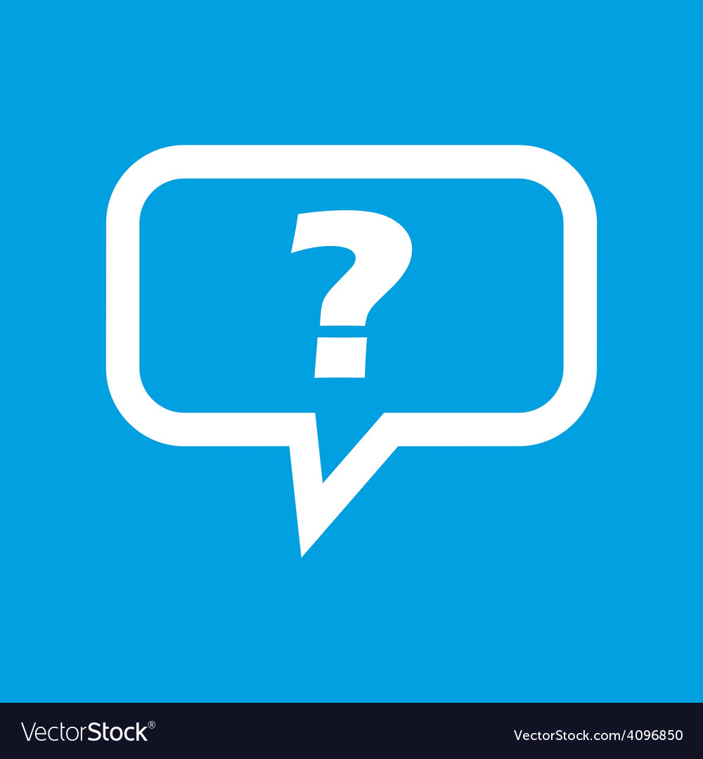Question white icon vector | Price: 1 Credit (USD $1)