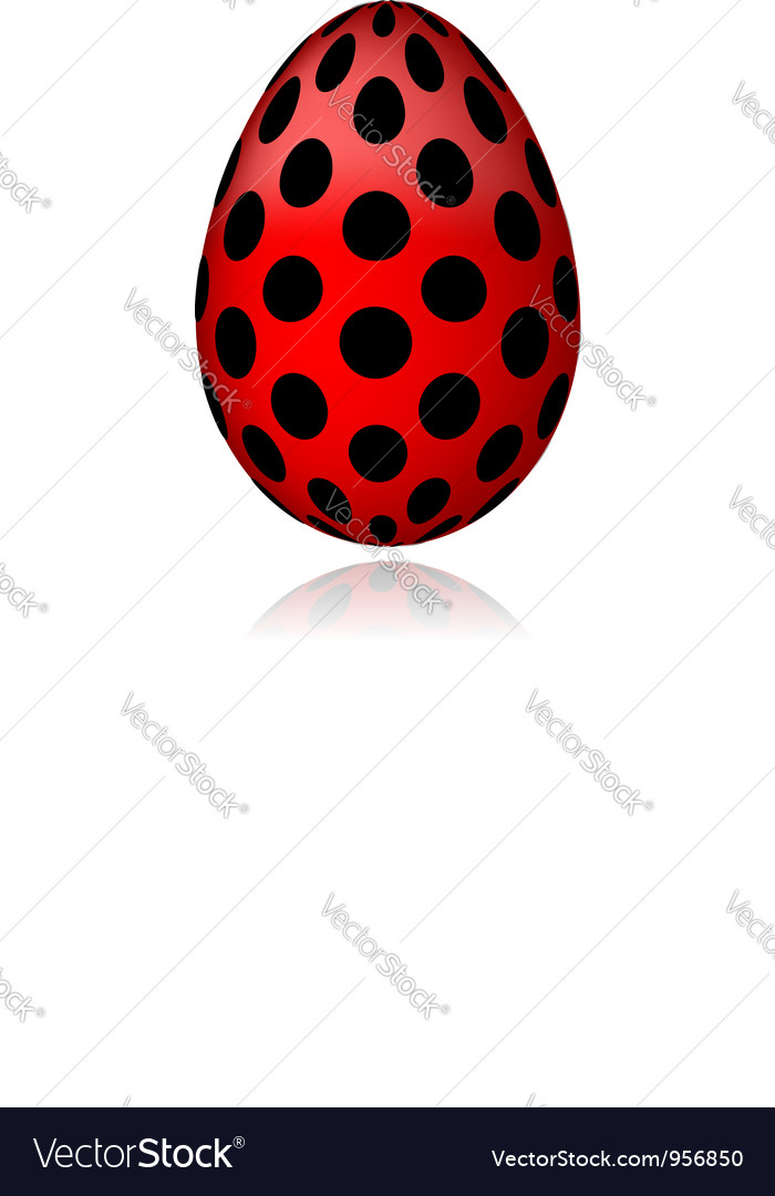 Red egg in black peas for your design vector | Price: 1 Credit (USD $1)