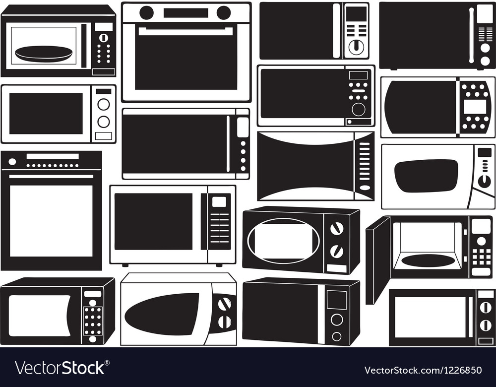 Set of microwave ovens vector | Price: 1 Credit (USD $1)
