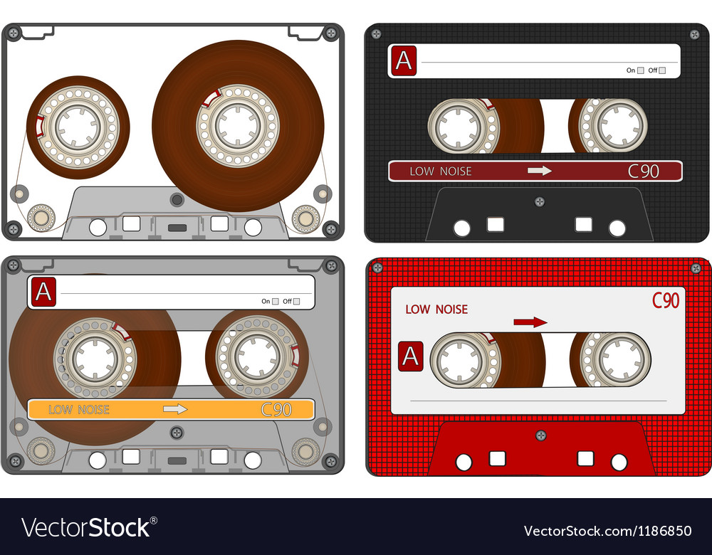 Set of the different audio cassettes vector | Price: 3 Credit (USD $3)