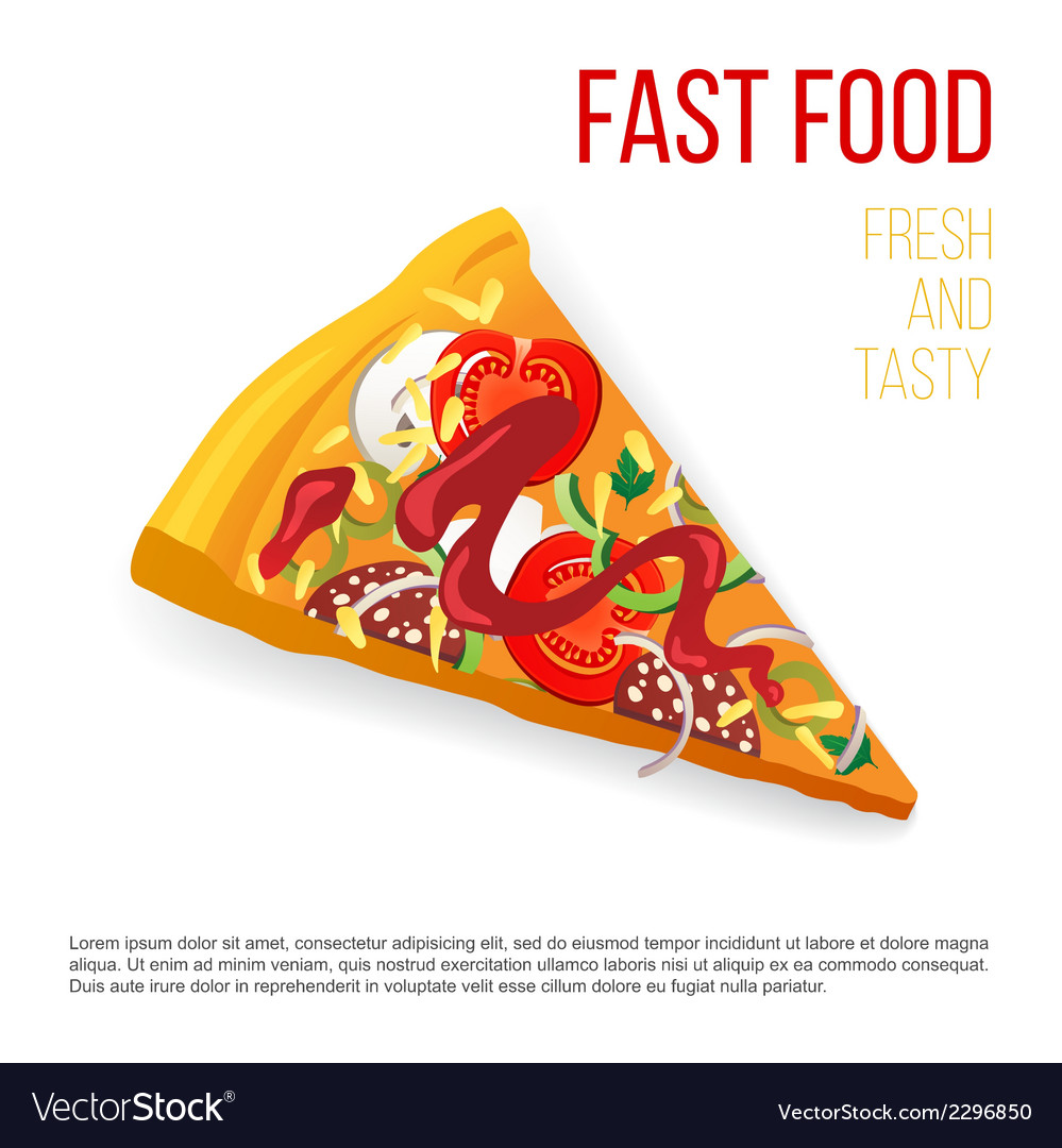 Slice of pizza vector | Price: 1 Credit (USD $1)