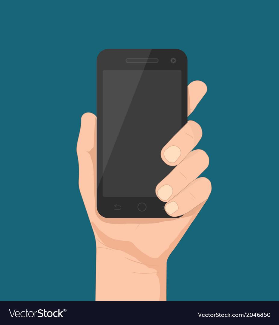 Smartphone in hand vector   Price: 1 Credit (USD $1)