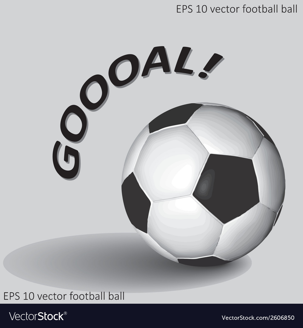 Soccer or football ball eps10 vector | Price: 1 Credit (USD $1)
