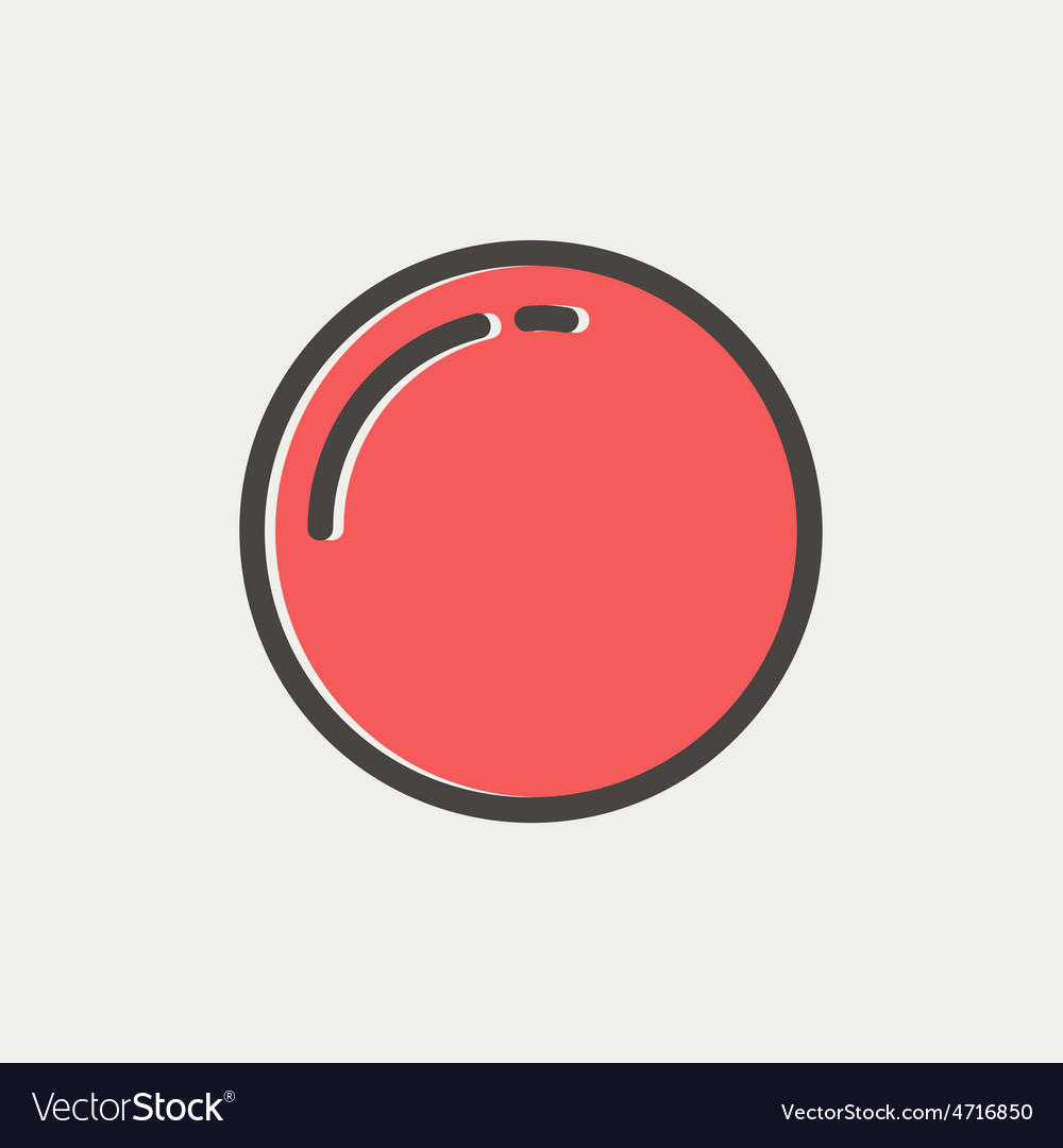 Stop sign thin line icon vector | Price: 1 Credit (USD $1)