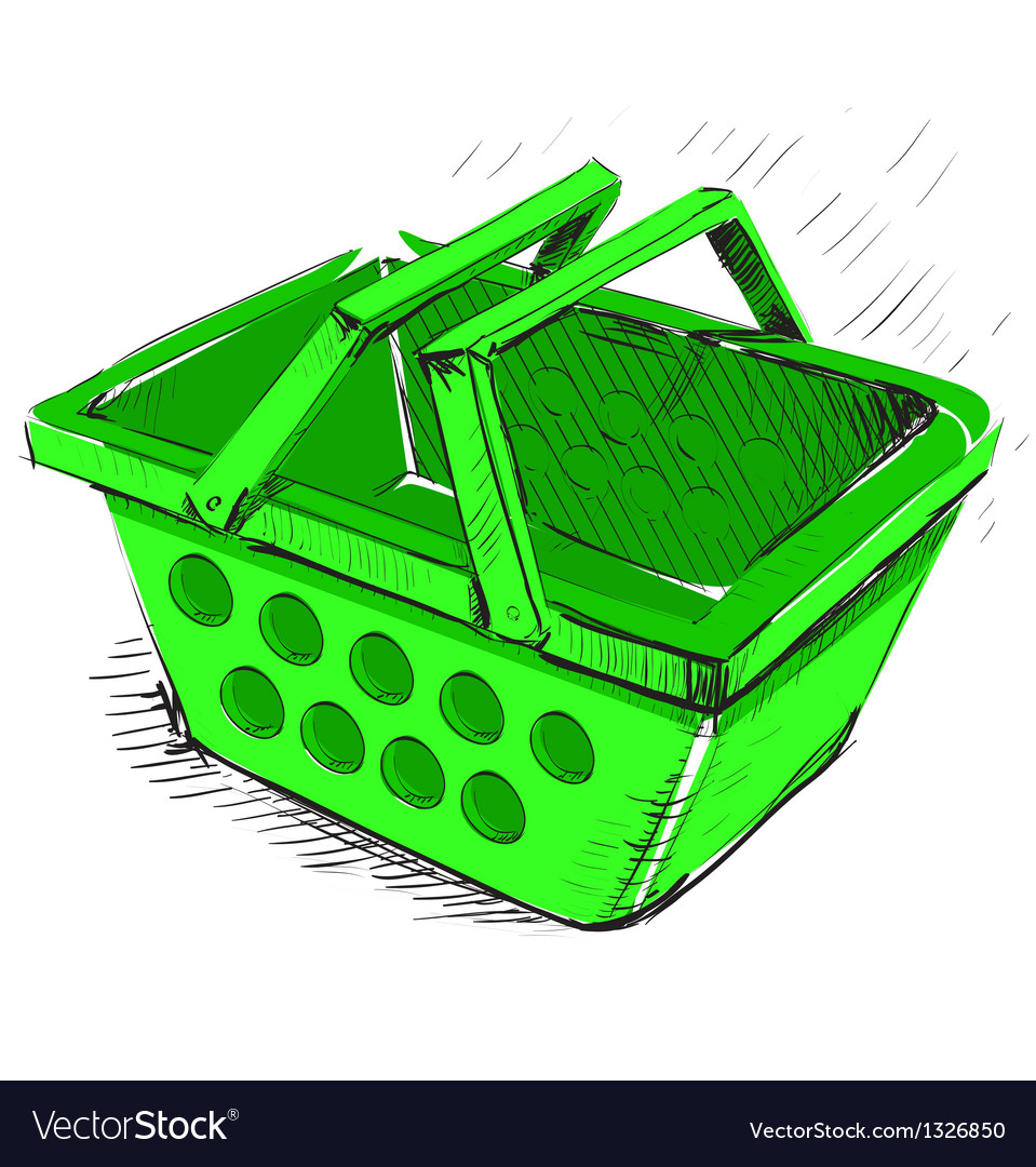 Supermarket food basket vector | Price: 1 Credit (USD $1)