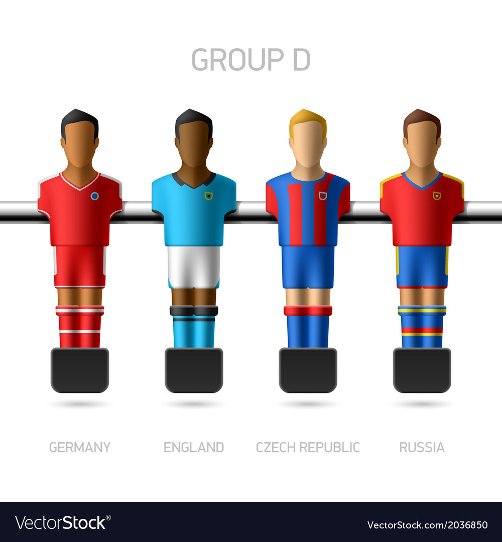 Table football foosball players group d vector | Price: 1 Credit (USD $1)
