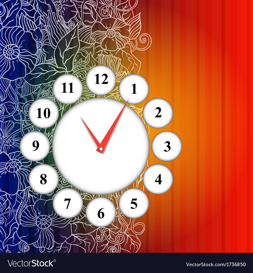 Time icon background vector | Price: 1 Credit (USD $1)