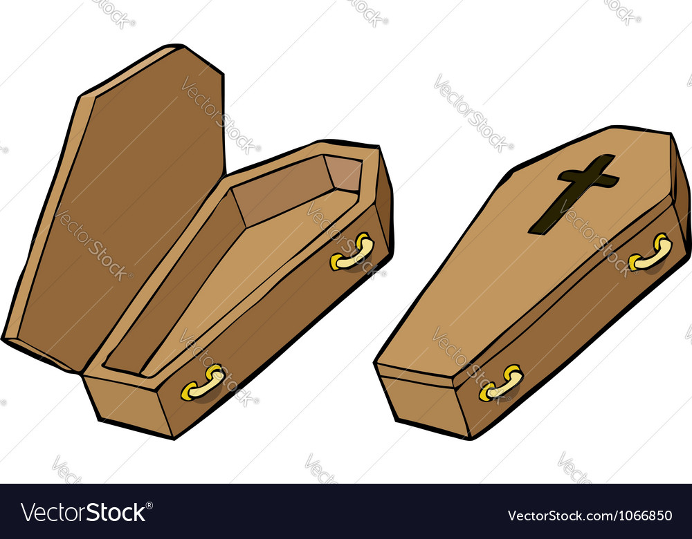 Two coffins vector | Price: 1 Credit (USD $1)