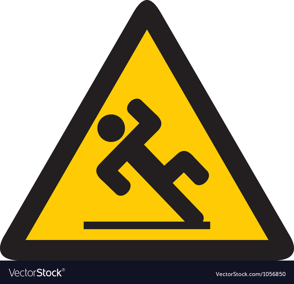 Wet floor sign vector | Price: 1 Credit (USD $1)