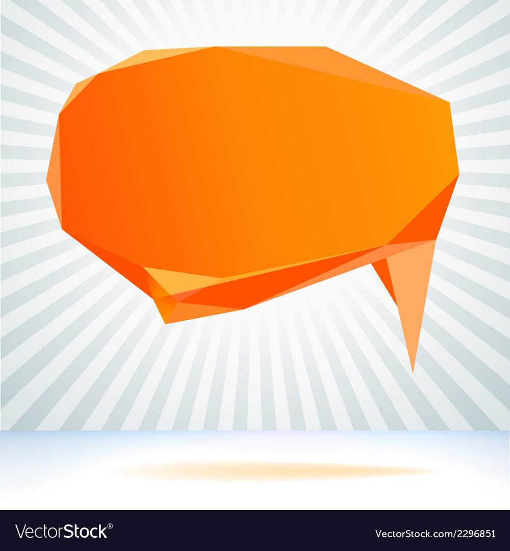 Abstract origami speech bubble background  eps8 vector | Price: 1 Credit (USD $1)