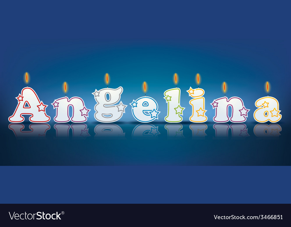 Angelina written with burning candles vector | Price: 1 Credit (USD $1)