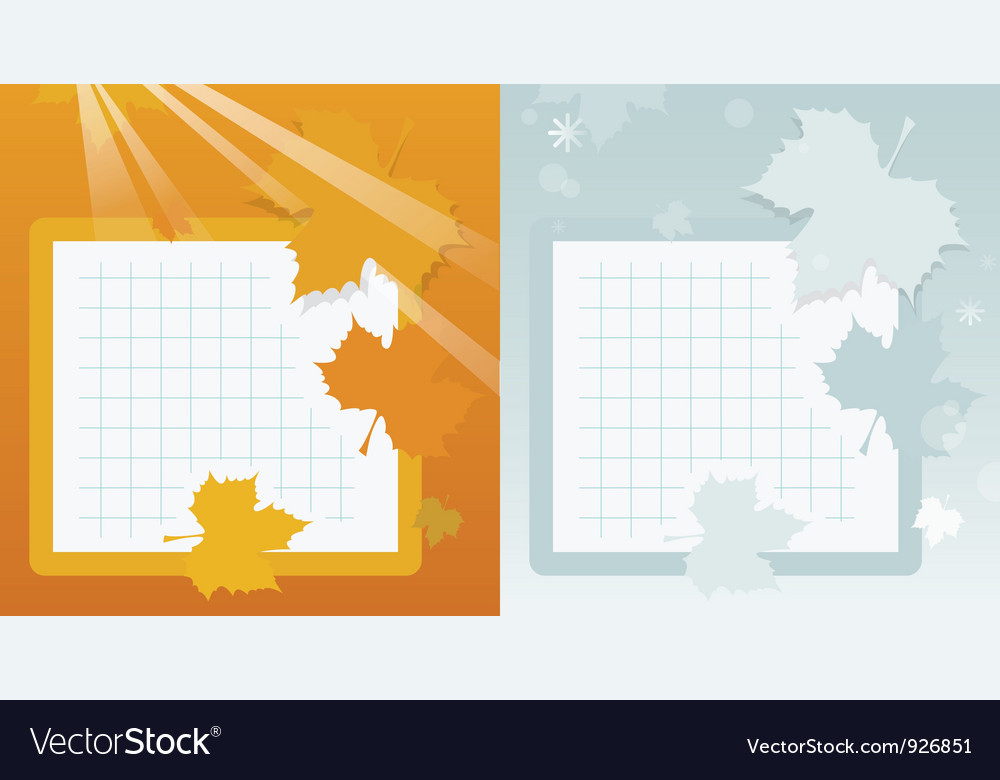 Autumn school background vector | Price: 1 Credit (USD $1)