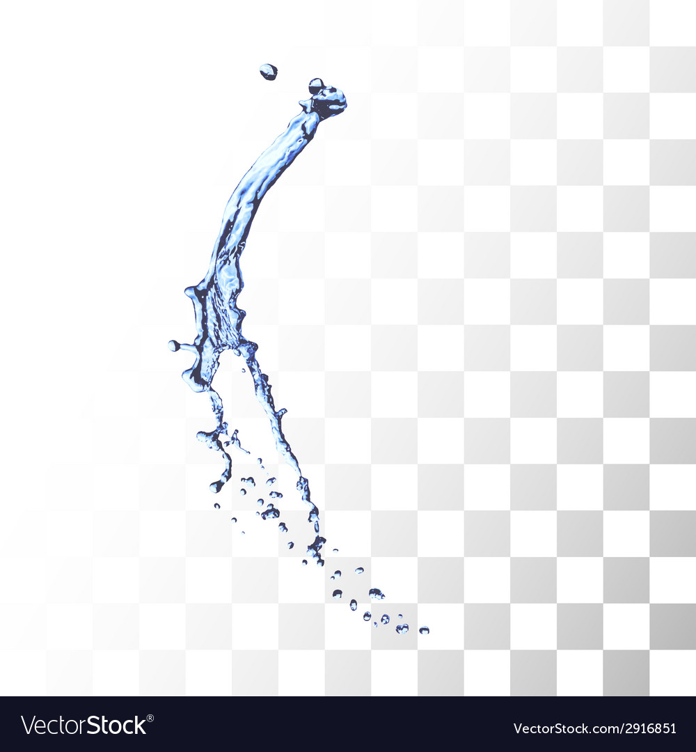 Blue water splash isolated on white vector | Price: 1 Credit (USD $1)