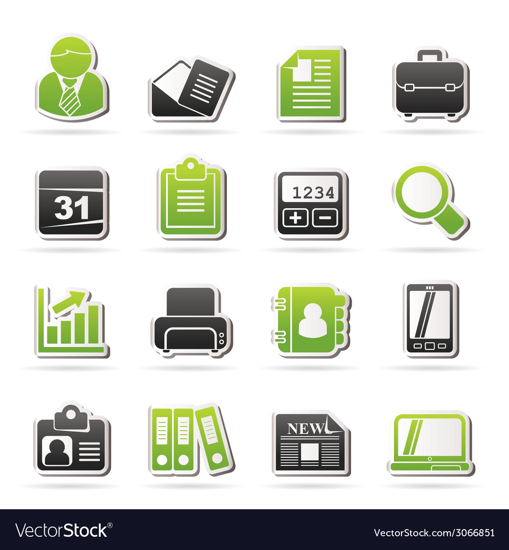 Business and office icons vector | Price: 1 Credit (USD $1)