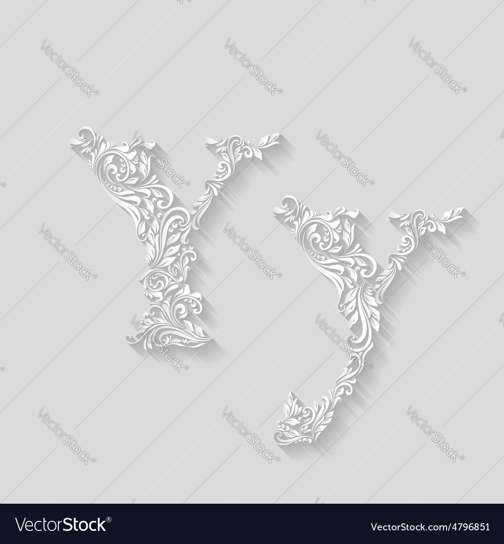 Decorated letter y vector | Price: 1 Credit (USD $1)