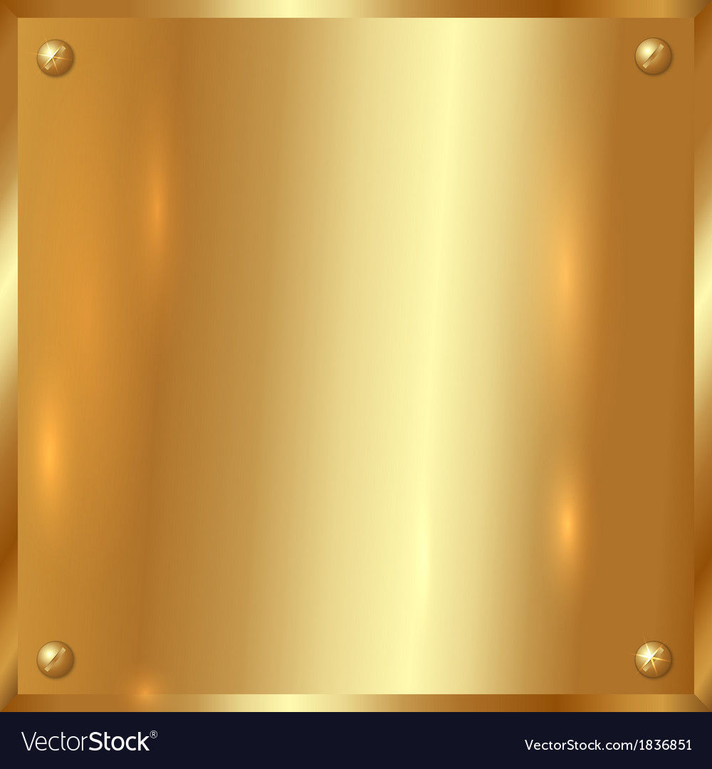 Golden plate with screws vector | Price: 3 Credit (USD $3)