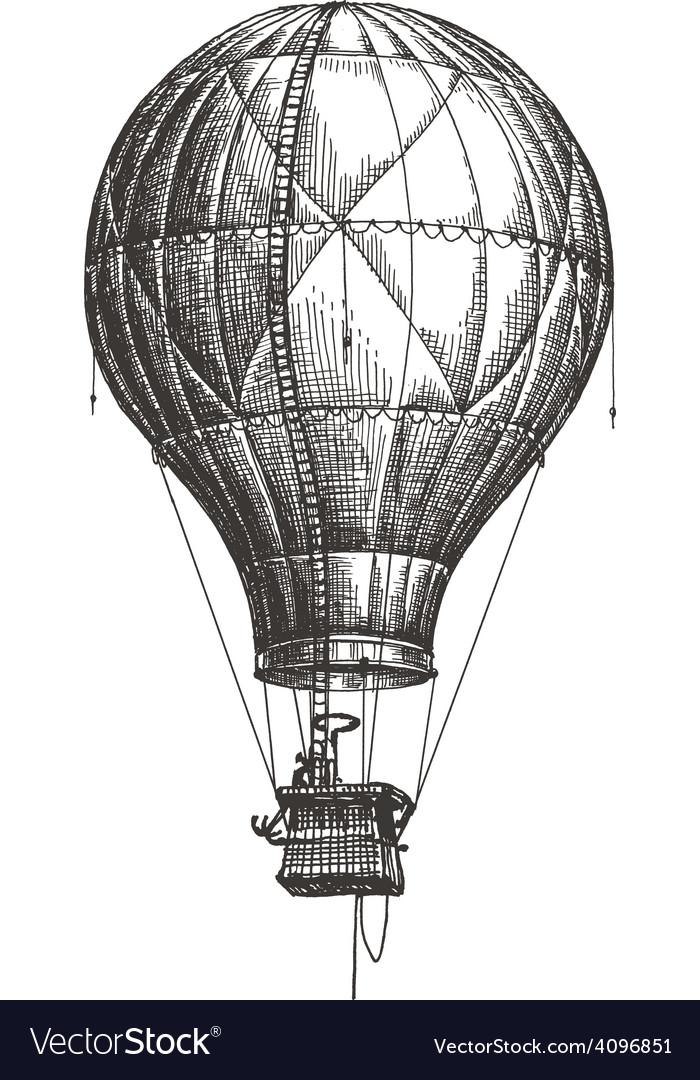 Hot air balloon logo design template retro vector | Price: 3 Credit (USD $3)