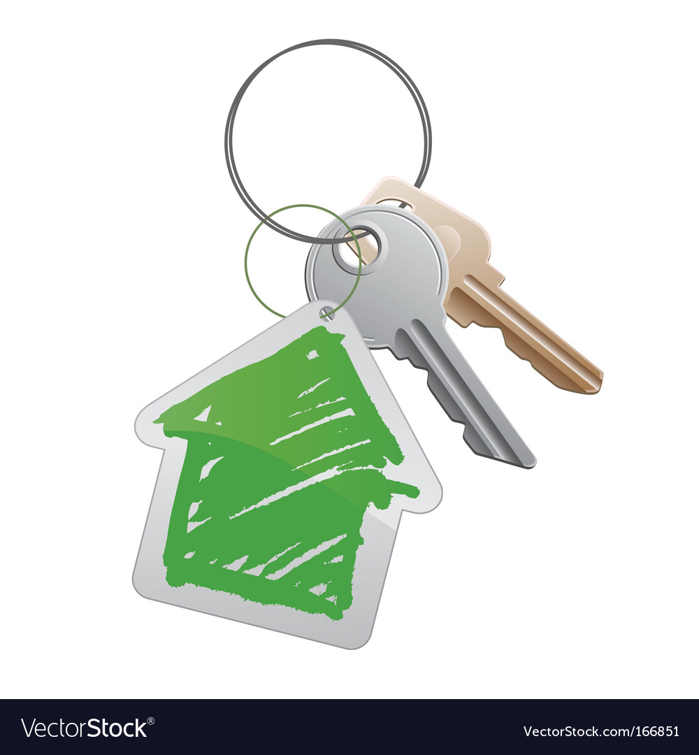 House keys vector | Price: 1 Credit (USD $1)