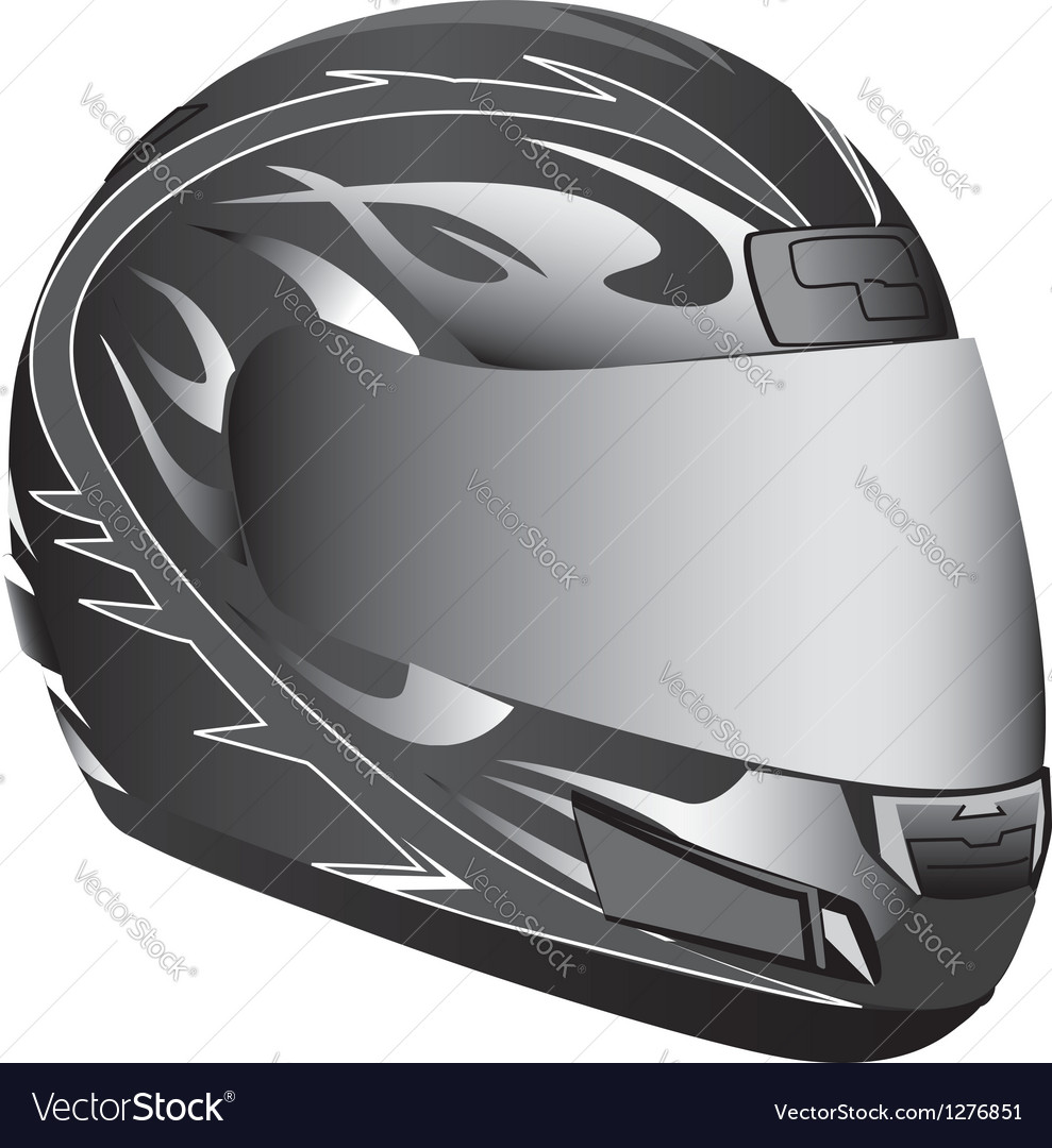 Motorcycle helmet vector | Price: 1 Credit (USD $1)