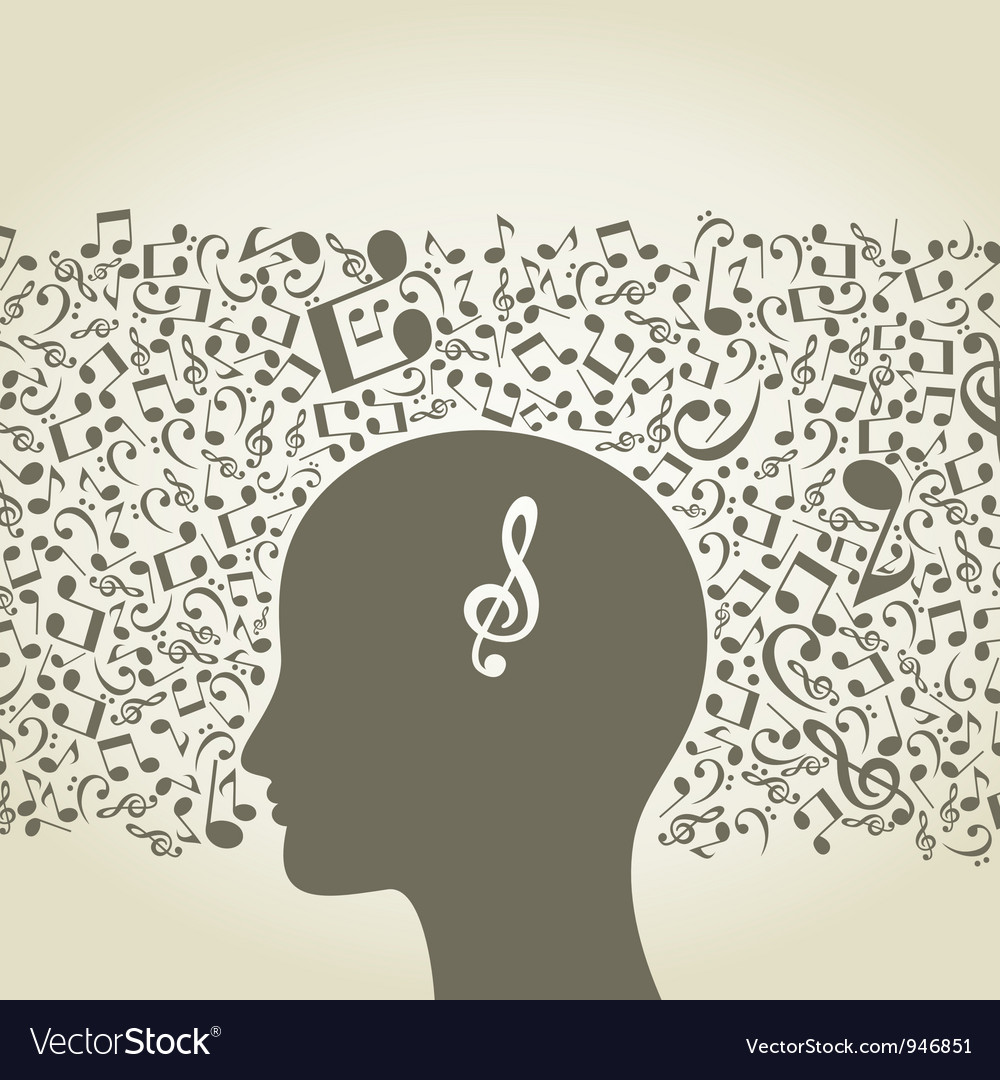 Musical mind vector | Price: 1 Credit (USD $1)