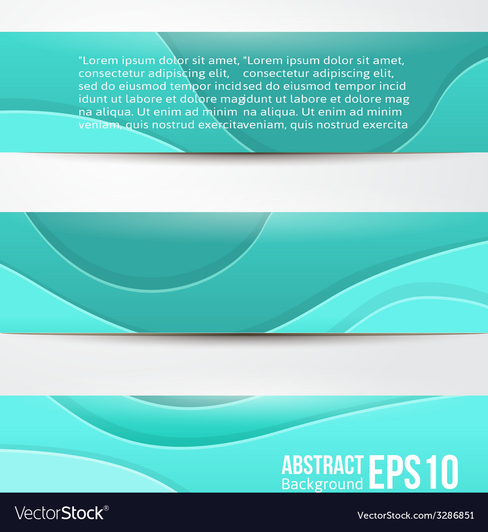 Set of abstract blue banners three background vector | Price: 1 Credit (USD $1)