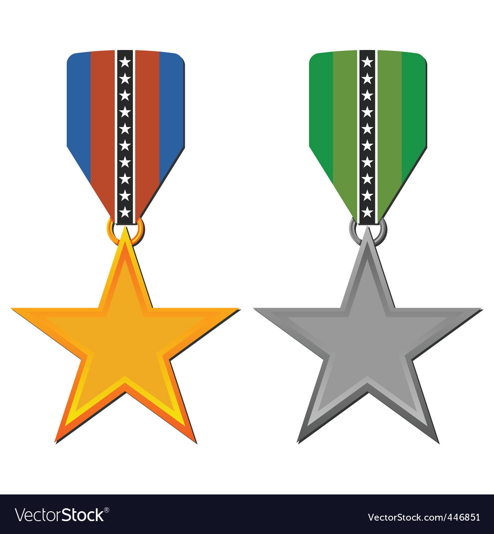 Star medals vector | Price: 1 Credit (USD $1)