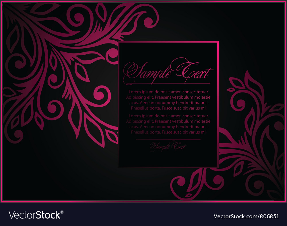 Subtle floral template vector | Price: 1 Credit (USD $1)
