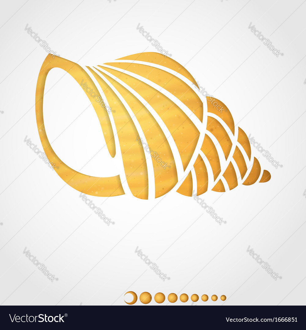 Summer background seashell vector | Price: 1 Credit (USD $1)
