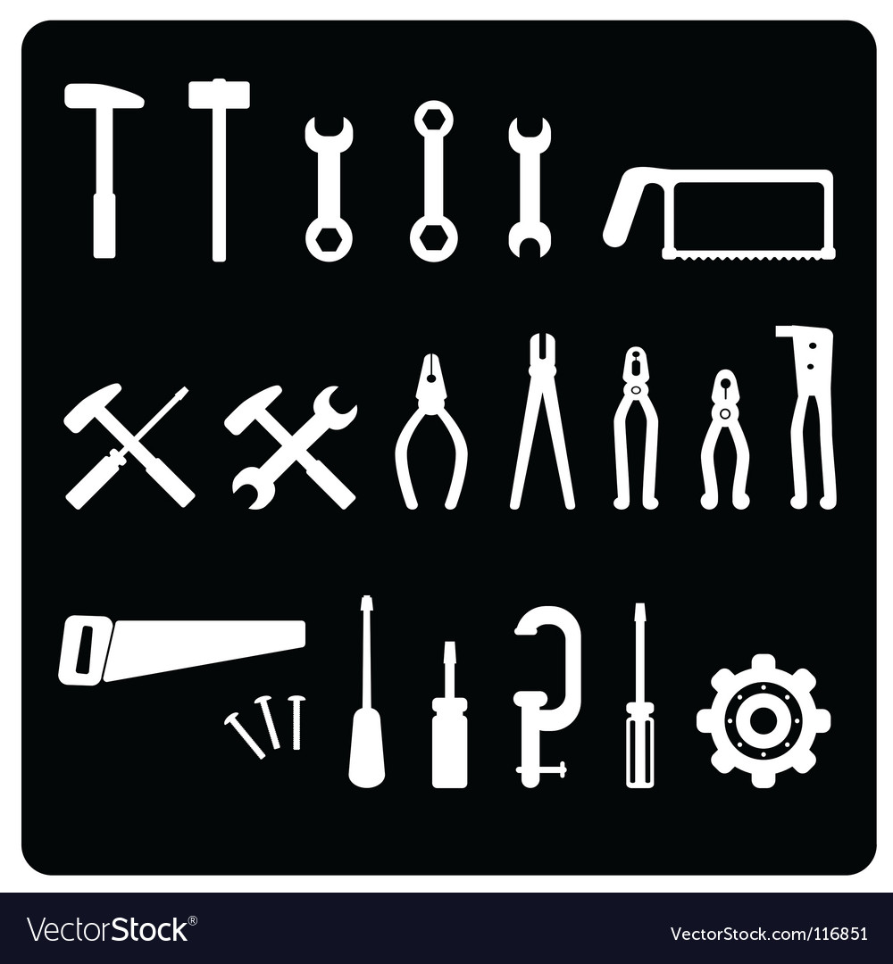 Tool icon set vector | Price: 1 Credit (USD $1)