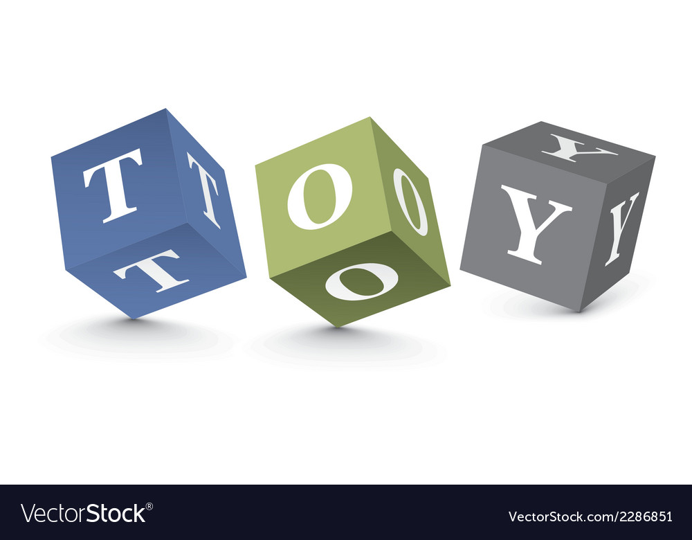 Word toy written with alphabet blocks vector | Price: 1 Credit (USD $1)