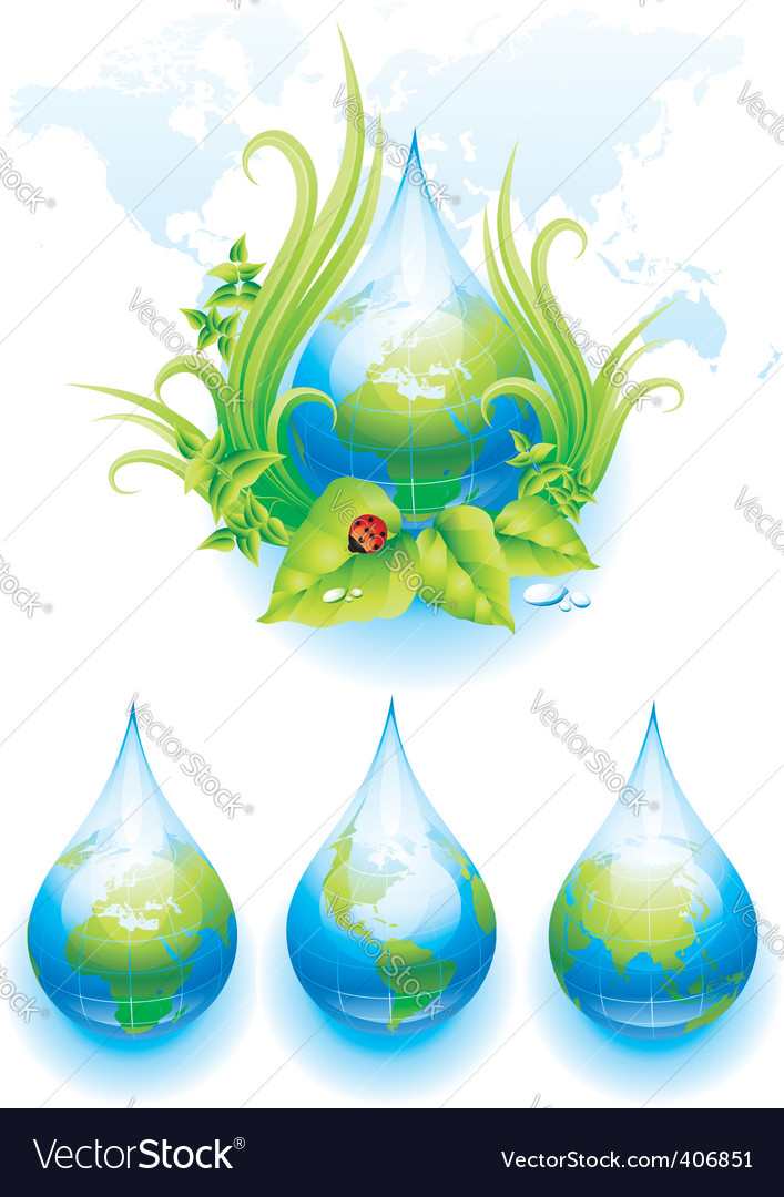 World droplet vector   Price: 3 Credit (USD $3)