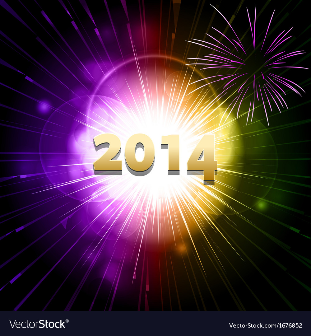 2014 new year firework2 vector | Price: 1 Credit (USD $1)
