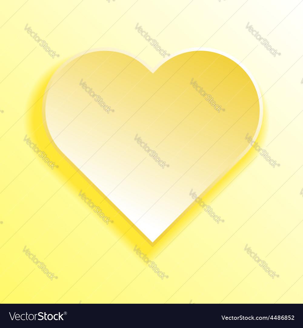 Abstract yellow heart vector