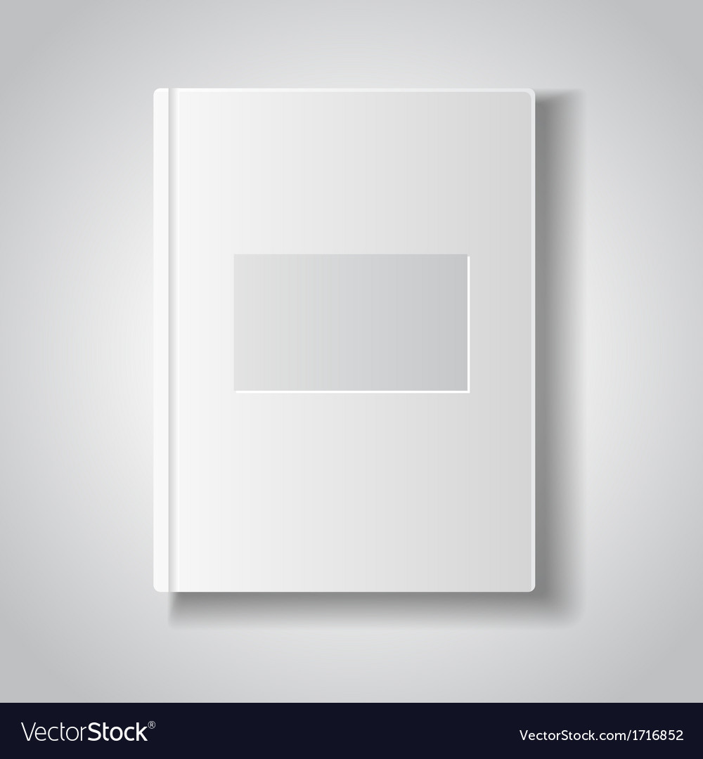 Blank book with white cover vector | Price: 1 Credit (USD $1)