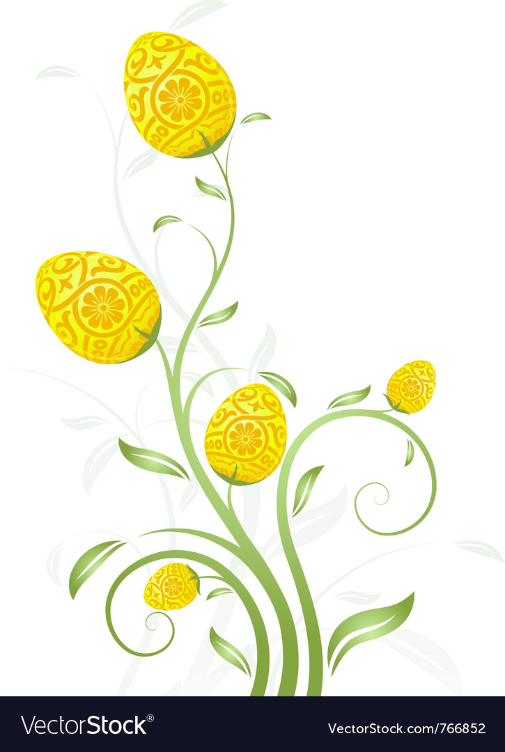 Easter card flower vector | Price: 1 Credit (USD $1)