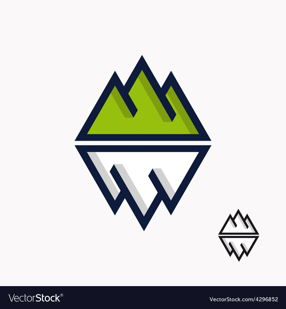 Logo of the mountain and iceberg vector | Price: 1 Credit (USD $1)