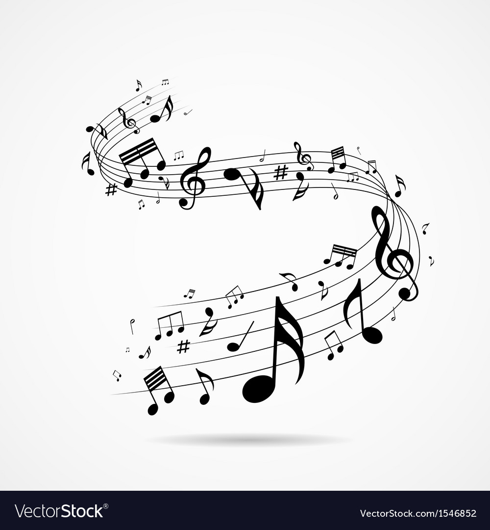 Musical notes design background vector | Price: 1 Credit (USD $1)