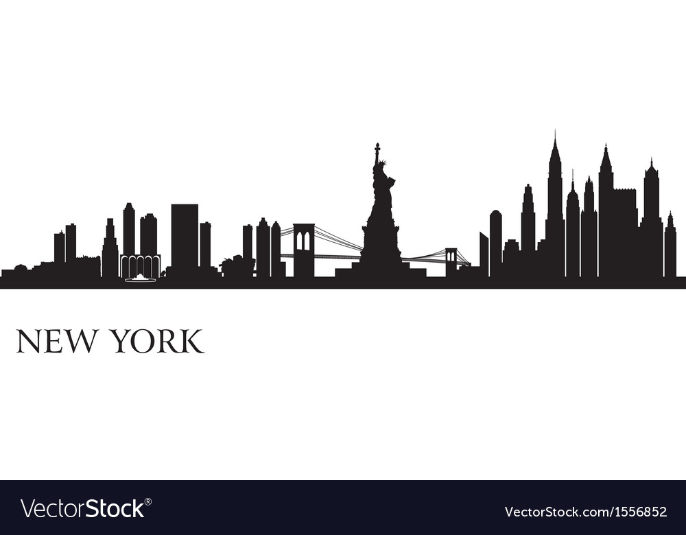 New york city skyline silhouette background vector | Price: 1 Credit (USD $1)