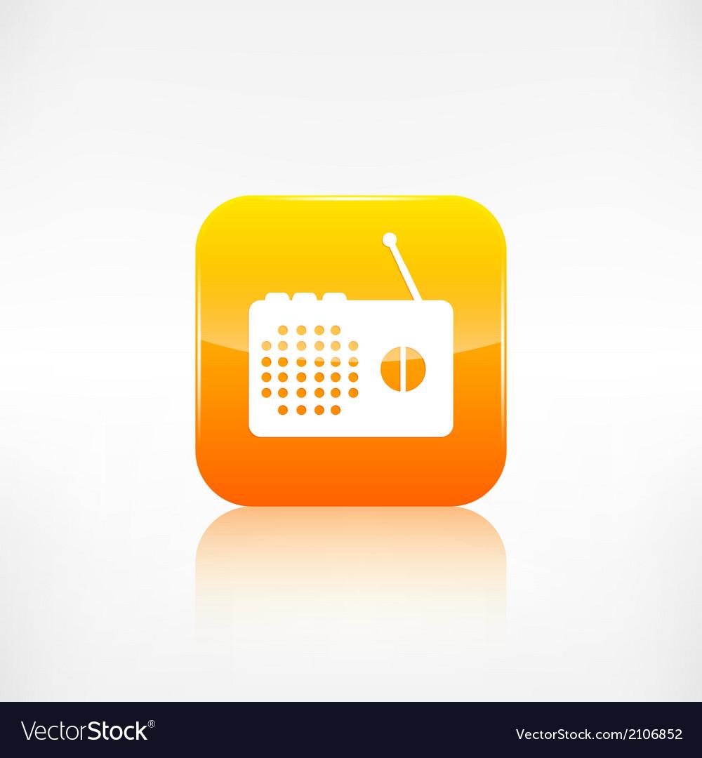 Radio web icon application button vector | Price: 1 Credit (USD $1)