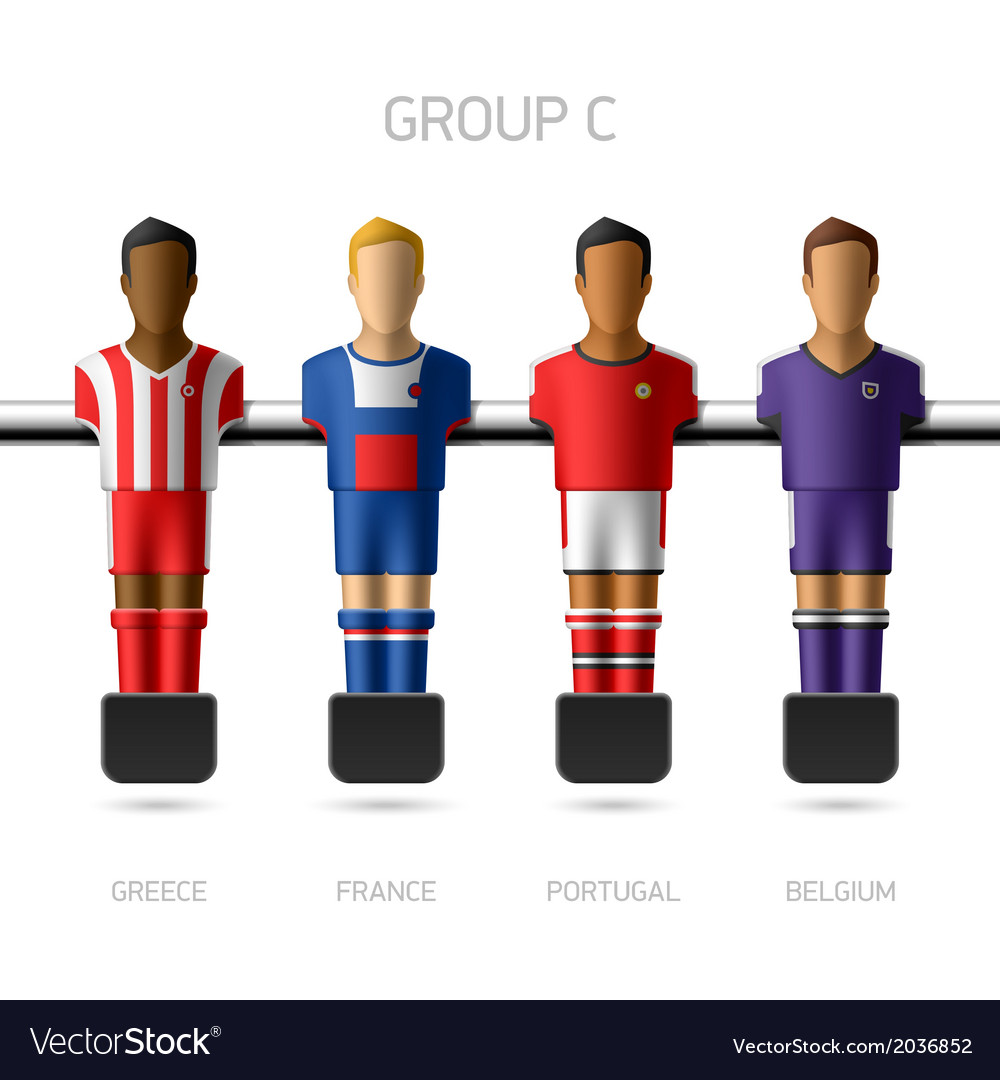 Table football foosball players group c vector | Price: 1 Credit (USD $1)