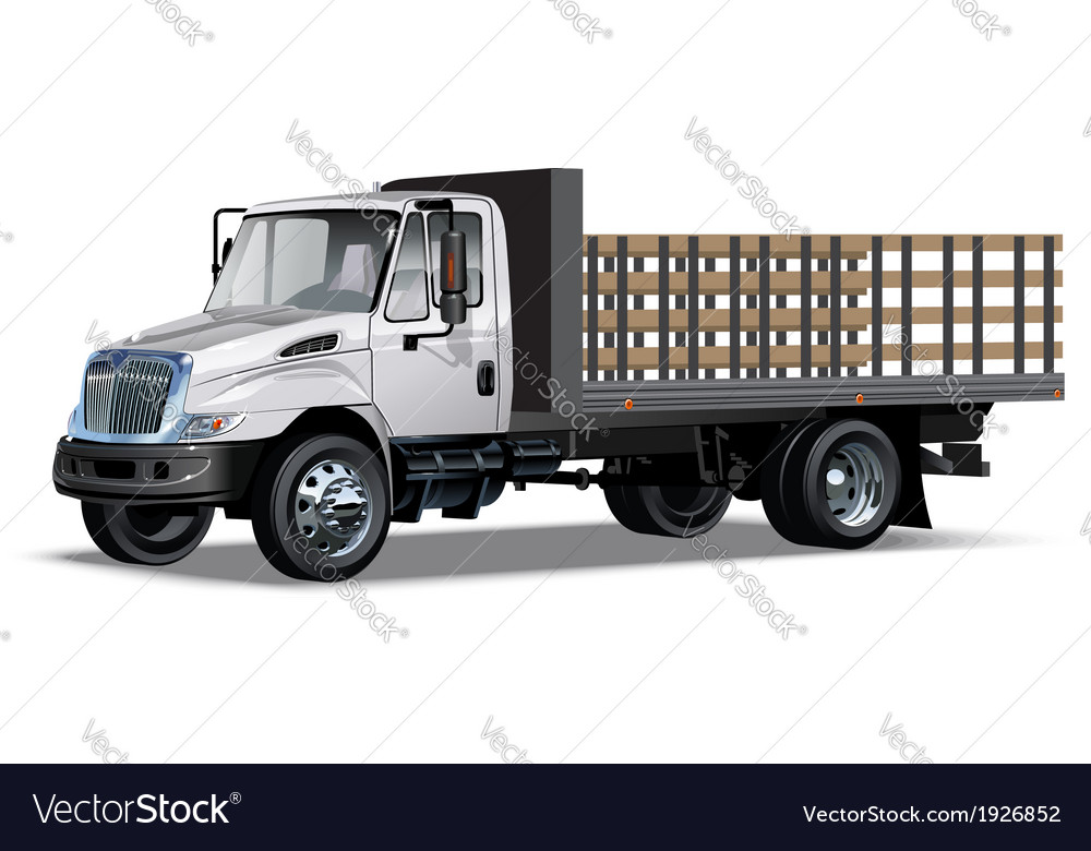 Truck flatbed vector | Price: 3 Credit (USD $3)