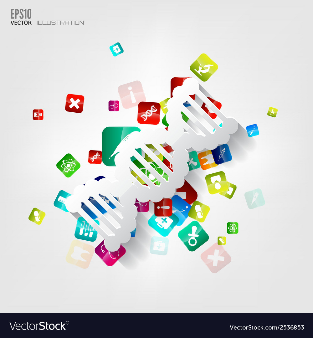 Abstract medical background with application icons vector   Price: 1 Credit (USD $1)