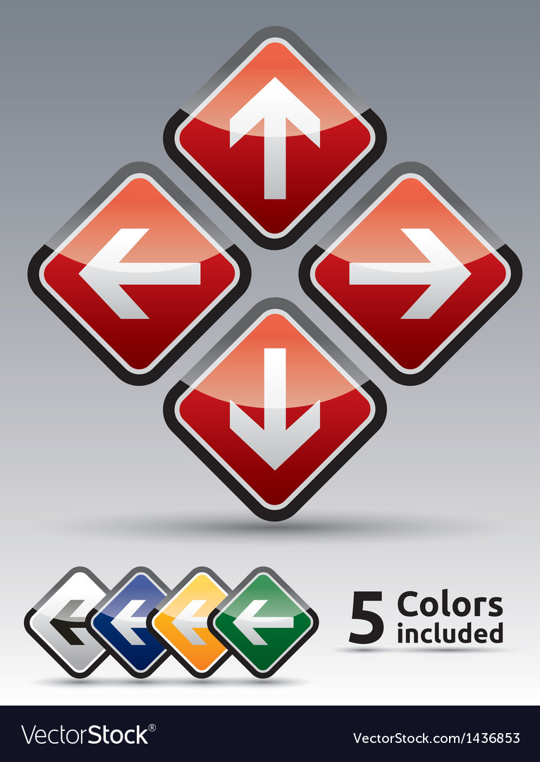 Arrow directions icon vector | Price: 1 Credit (USD $1)