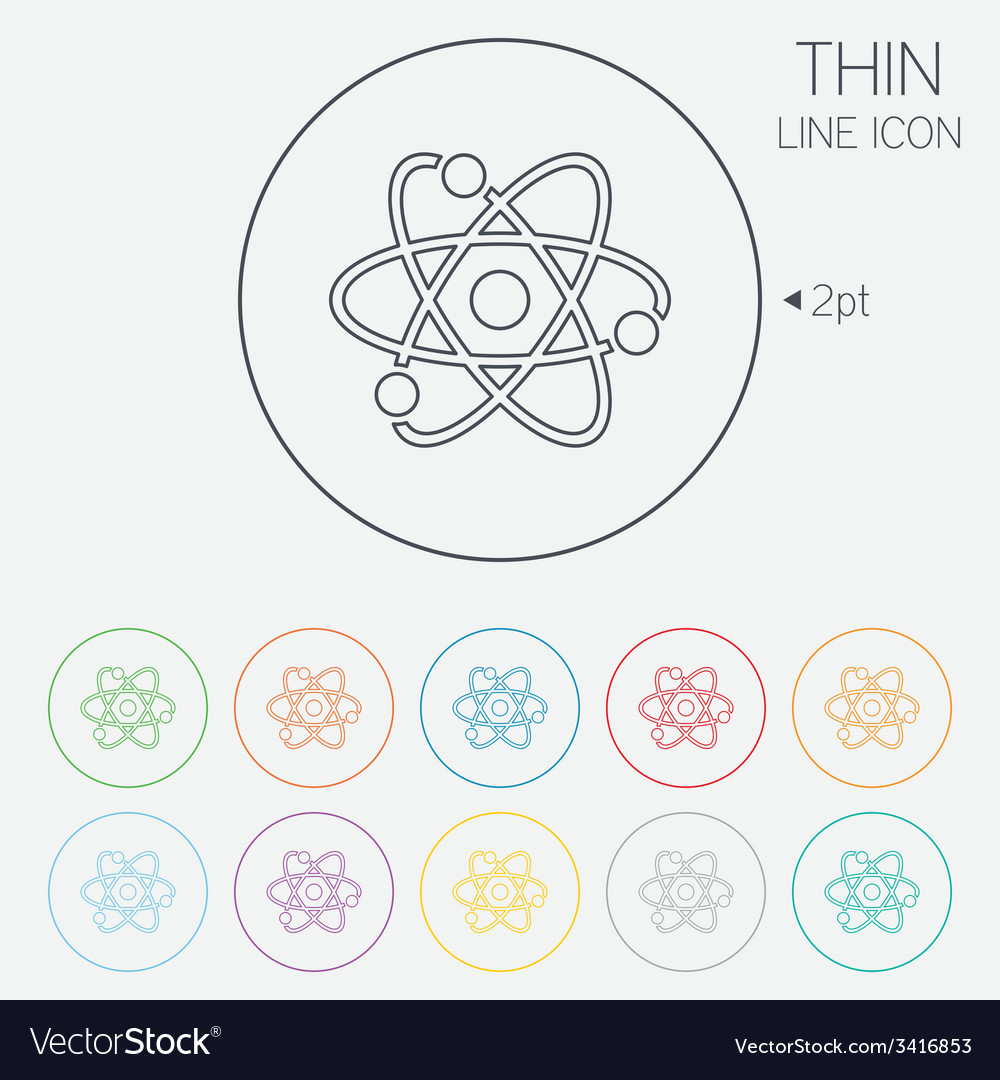 Atom sign icon atom part symbol vector | Price: 1 Credit (USD $1)