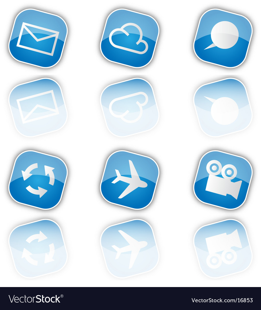 Blue icons vector   Price: 1 Credit (USD $1)