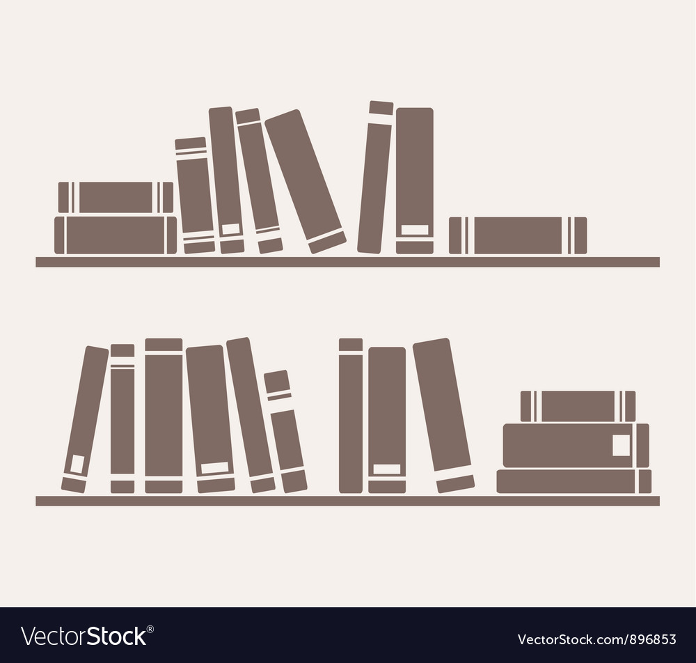 Book on the shelf vector | Price: 1 Credit (USD $1)
