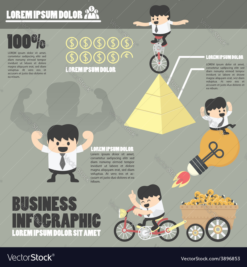 Business infographicssuccess vector | Price: 1 Credit (USD $1)
