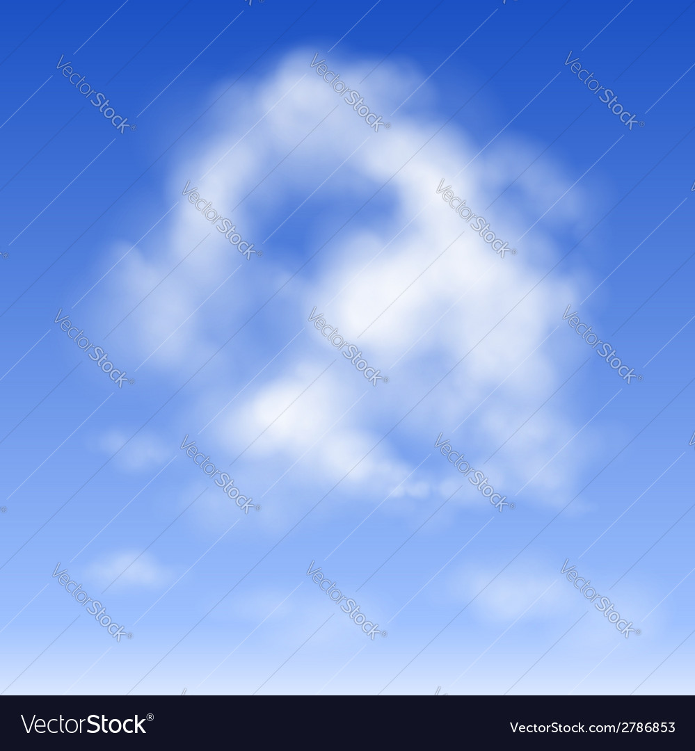 Cloud in the sky vector | Price: 1 Credit (USD $1)